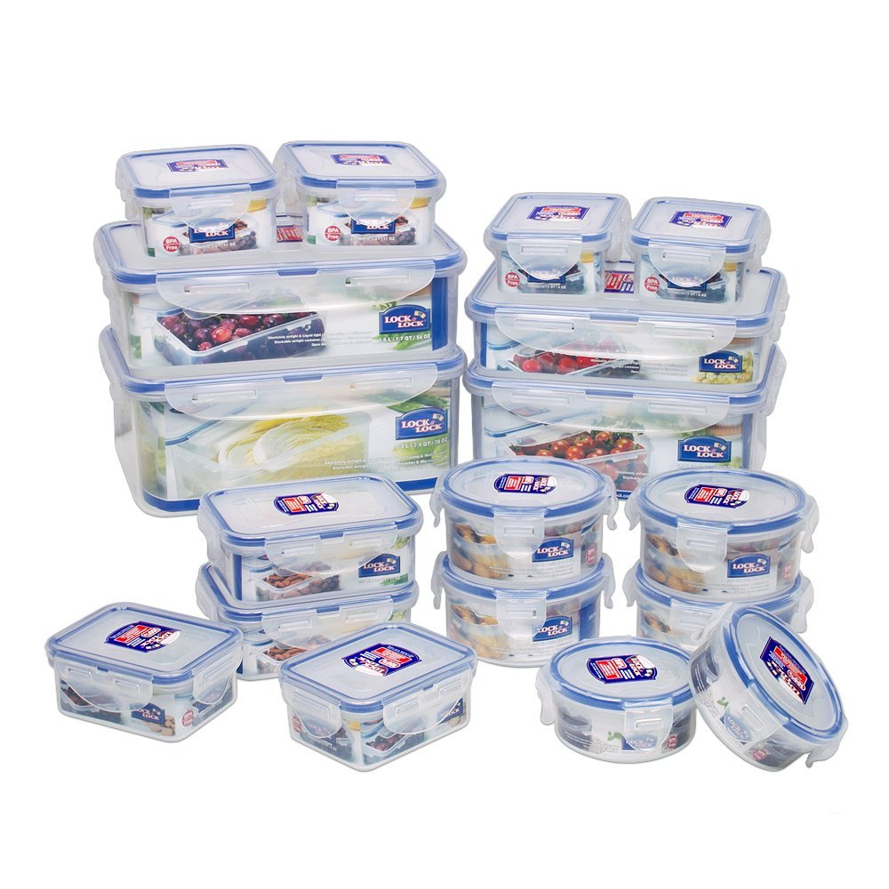 Lock Lock Storage Containers 36 piece set Shopulace
