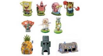 spongebob aquarium ornaments
